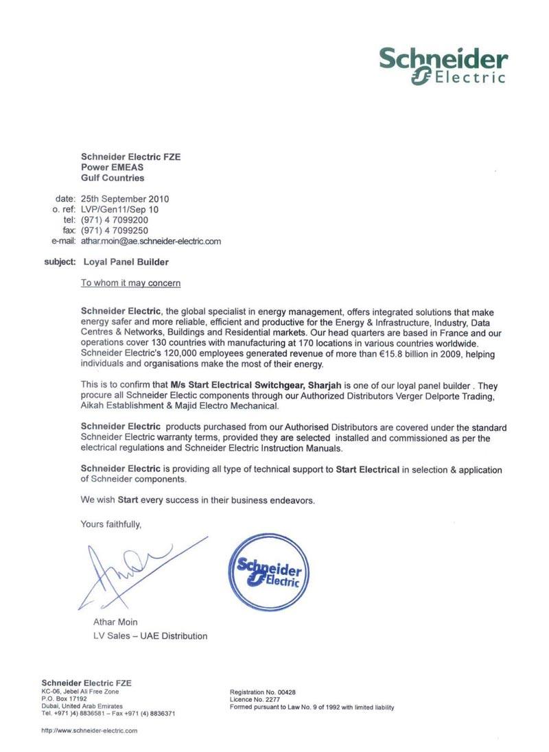 Schneider Certificate